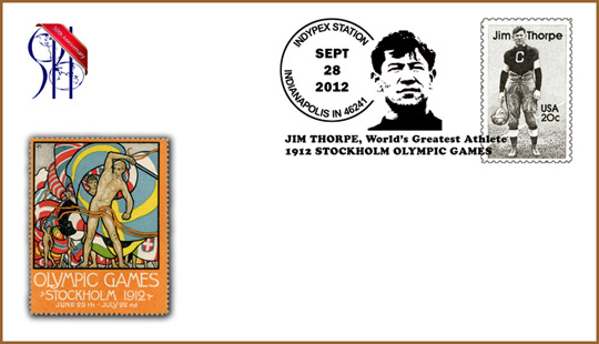 Jim Thorpe Cacheted Cover