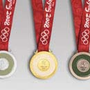 Completed Olympic medal