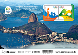 Souvenir sheet of 2 for the 2016 Olympic Games in Rio