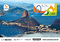 Souvenir sheet of 2 for the 2016 Paralympic Games in Rio